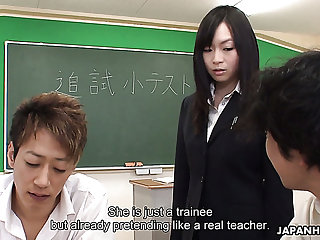 Poor trainee gets her private parts touched by her students in the lecture room