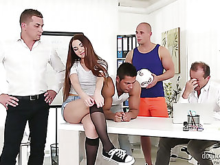 Nice hottie Stacy Snake turns out to be a versatile slut who loves gangbang