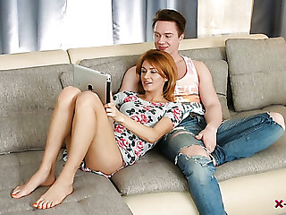 Ordinary svelte girlfriend Jenna is so into topping her BF's dick
